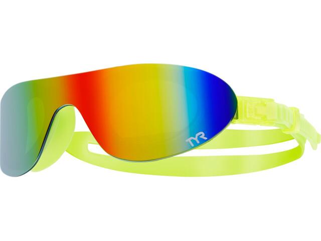 TYR Swimshades Mirrored Goggles Rainbow/Flou Yellow